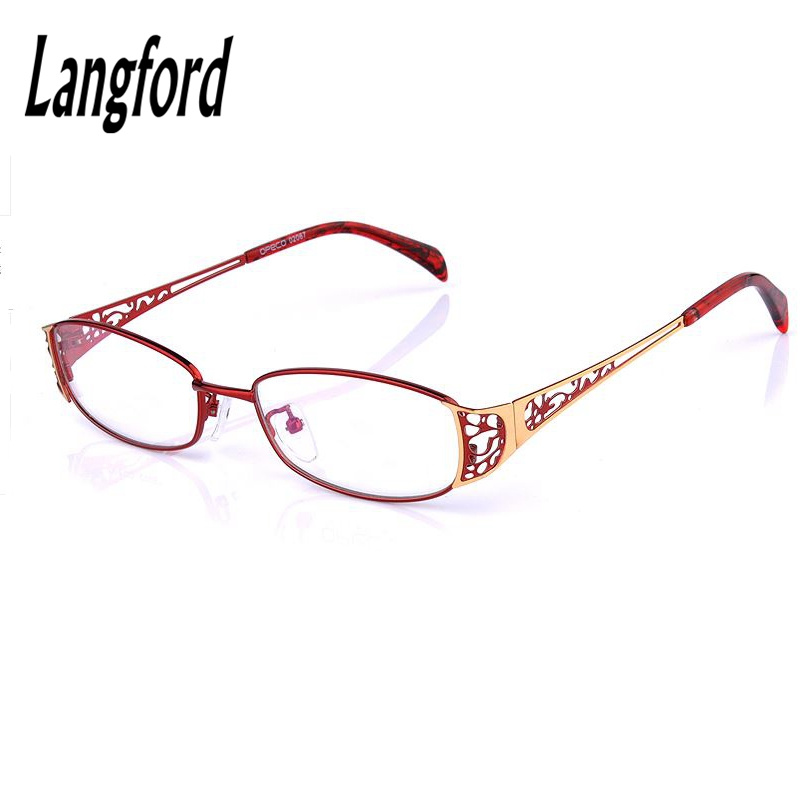 b7f257426d Big frame woman full Eye Glasses Fashionable Lady Oval Optical golden  spectacles height 33mm75038