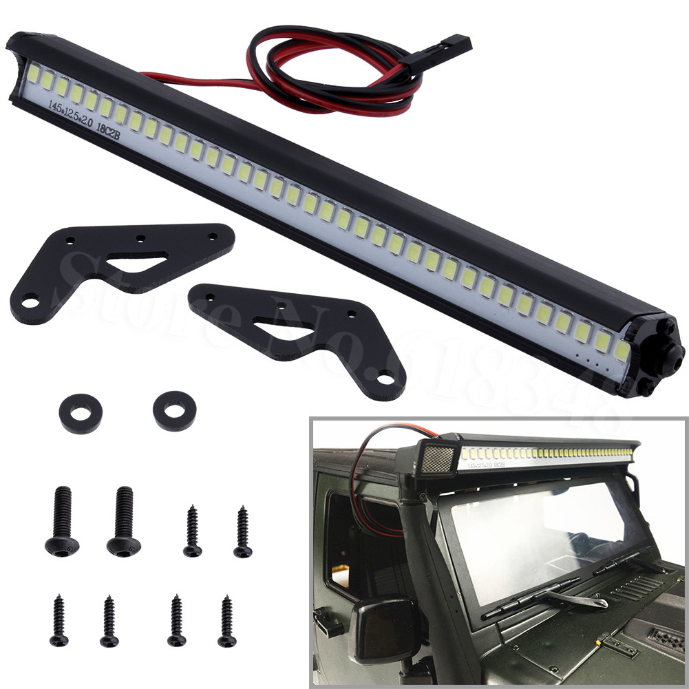 RC Car LED Light Bar 36 Leds For Traxxas Trx-4 Trx4 Axial SCX10 90046 D90 RC Rock Crawler Truck Body Shell Roof Lights