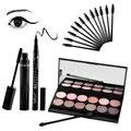 Qibest Eye Makeup Set include Mascara Eyeliner Eye shadow Eyelash brush Makeup Shimmer Matte Natural Cosmetic Set