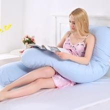 70*135CM Pregnant Women U Shaped Cotton Sleeping Pillows Maternity Side Sleeper Full Body Belt pillow Pregnancy Bedding Cushion