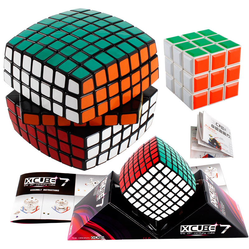 Magic Cube 3x3x3 7x7x7 Keychain Cubo Magico Puzzle Rubiks Column Cube Cube Bag Stand Toy Kid For competitions challenge IQ цена