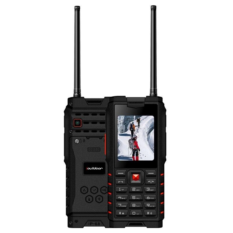 Ioutdoor T2 IP68 Водонепроницаемый 2.4 дюйма 4500 мАч UHF Двухканальные рации Bluetooth Две сим-карты прочный телефон