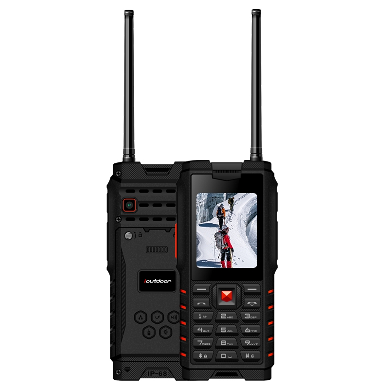 Ioutdoor T2 IP68 Étanche 2.4 pouces 4500 mAh UHF Talkie Walkie Bluetooth Double Carte SIM Téléphone Robuste