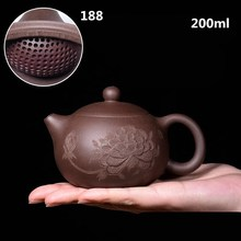 цена High quality 200ml Authentic Yixing Teapot Master Handmade Chinese Health Purple Clay Kung Fu Tea Set Xi Shi Pot онлайн в 2017 году