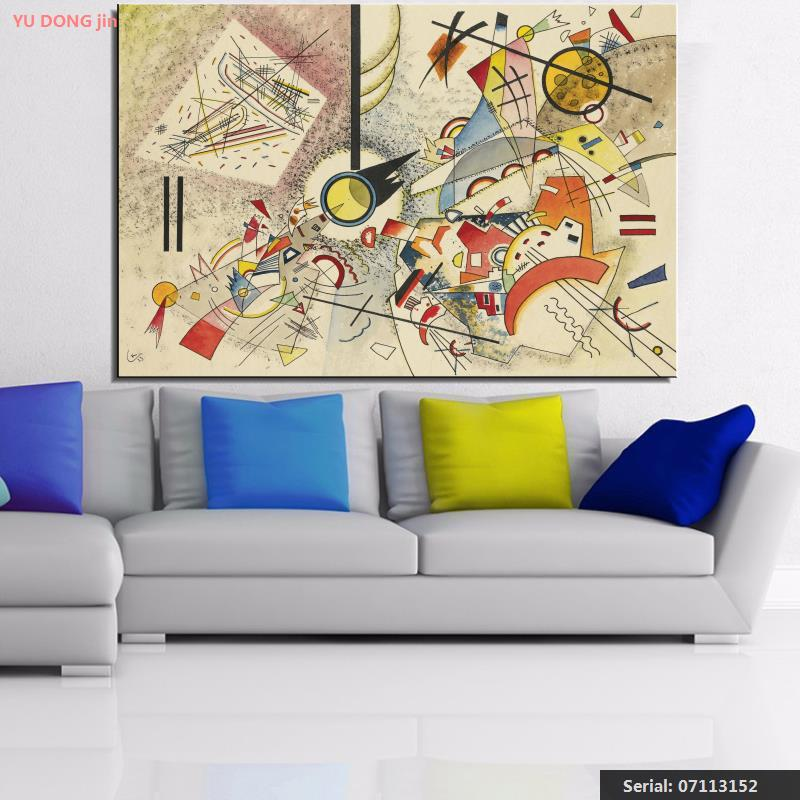 Us 8 72 46 Off Wassily Kandinsky Still Life Abstract Oil Painting Drawing Art Spray Unframed Canvas Landscape Airbrush Action Picture07113152 In