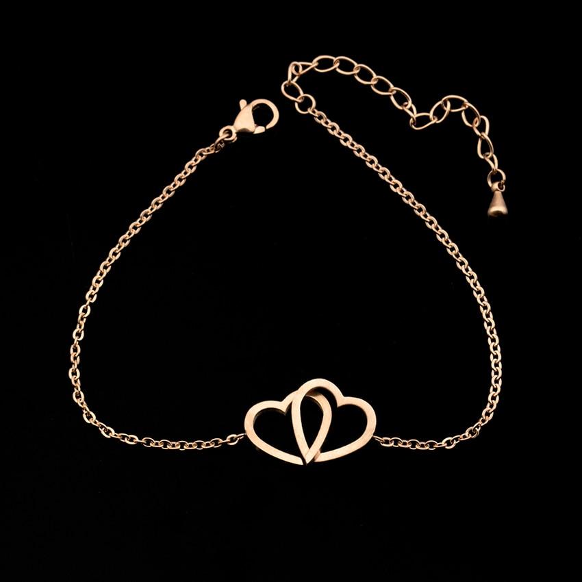 Heart Rose Gold Bracelet