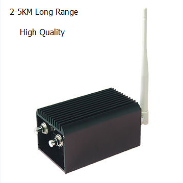 High Quality Long Distance Wireless System 1.2G Video and Audio Wireless Transmitter and Receiver with 2000mW Output Power