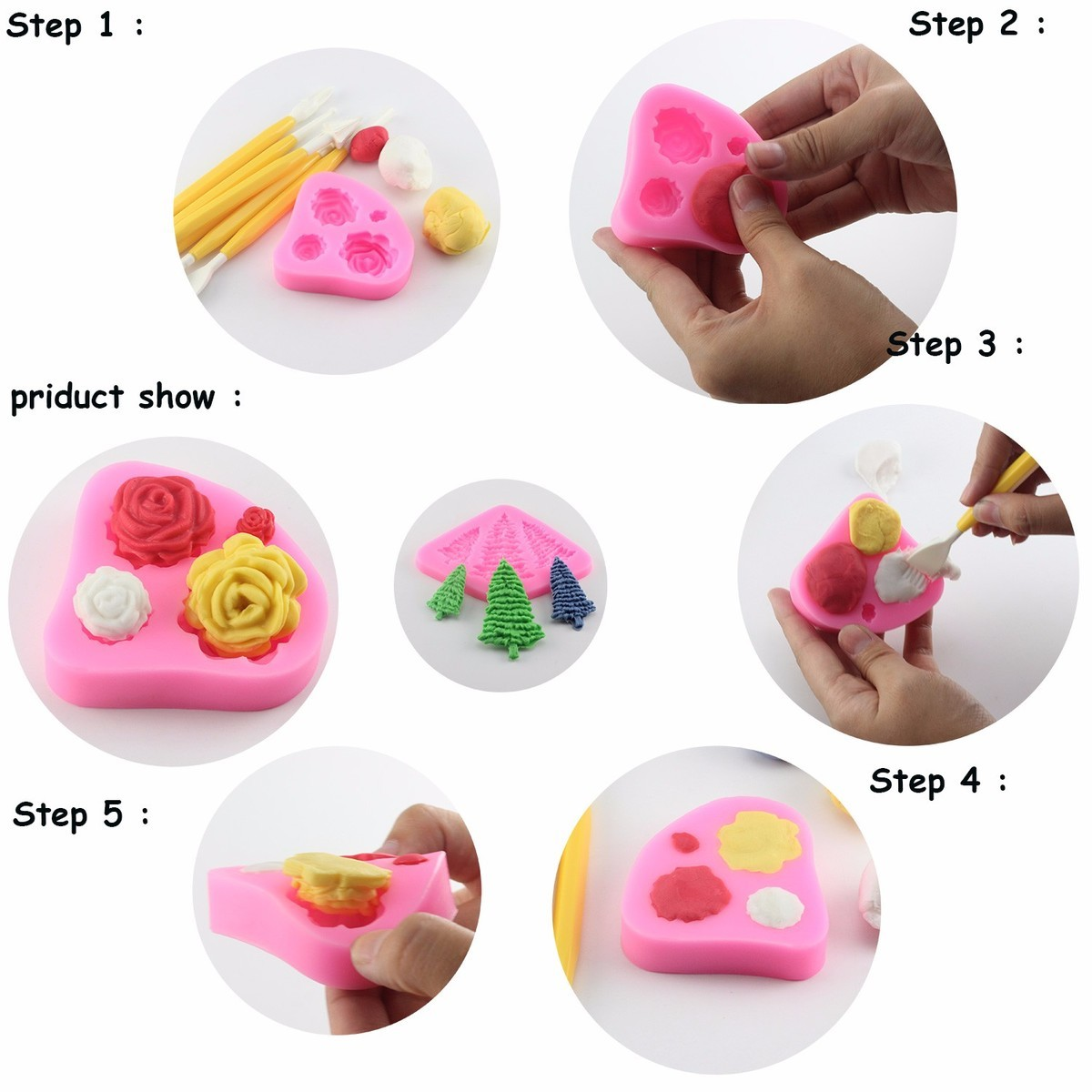Mujiang rose daisy flower fondant molds cake border silicone mold mujiang rose daisy flower fondant molds cake border silicone mold cupcake decorating tools candy chocolate gumpaste clay moulds in clay extruders from home izmirmasajfo
