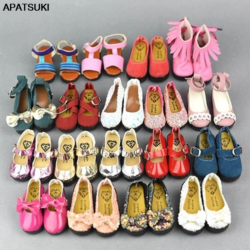 1/4 Doll Shoes Flattie Flat Shoes Princess Butterfly Leather Shoes For 1/4 Xinyi BJD SD 45-50cm Doll 1:4 Doll Accessories
