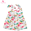 1 Piece Baby girl Dresses Colorful Print Bird 1 Year Birthday Dress 2016 New Baby Girl Clothes 0-24 Monthes Summer Clothes