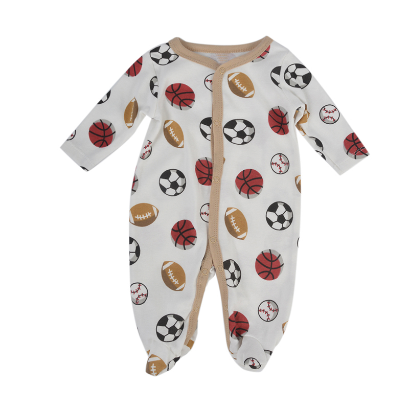 Newborn Baby Boy Winter Clothes Basketball Print Infant Baby Rompers Boy Girl Long Sleeve Romper Cotton Overalls Baby Clothing newborn baby boy rompers autumn winter rabbit long sleeve boy clothes jumpsuits baby girl romper toddler overalls clothing