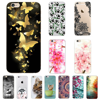 Phone Case for iPhone 7 7Plus Case Classic Colored Painting TPU Soft Silicone Cover for iPhone 7 7 Plus Cases Shell Fudas image