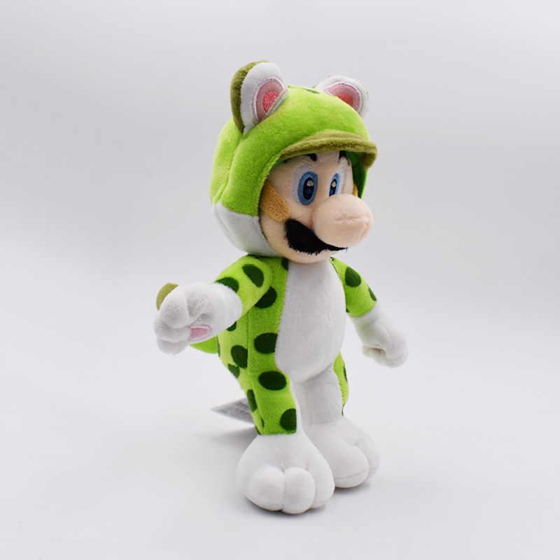 Super Mario Plush 18cm Super Mario 3D World Green Cat Luigi