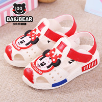 2017 Mickey Minnie Shoes Kids Girls Sandals Crystal Jelly Shoes Sandals Children Mini Shoes Baby Girl