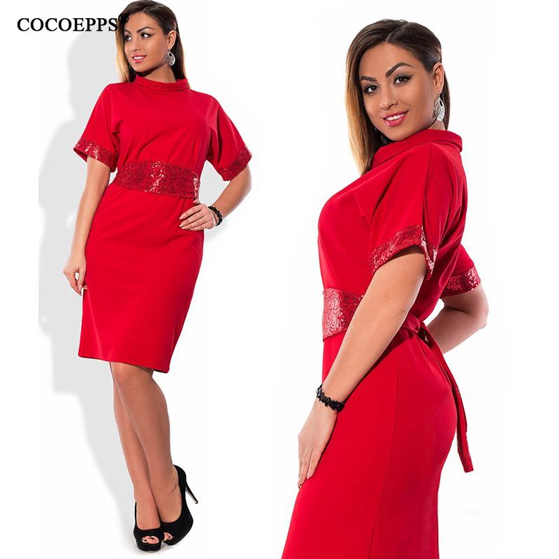 6c595b923b277 6XL 5XL Turtleneck Women Dress 2018 Summer Plus Size Short Sleeve ...