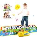 O tipo de jogo infantil do bebê tapete música tapete novo toque play teclado musical cantando ginásio carpet mat crianças baby toys presente Krystal