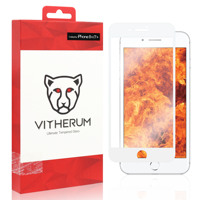 RUBY-Ultimate Resistência Vidro Temperado para o iphone 8 +/7 + (quadro Branco)