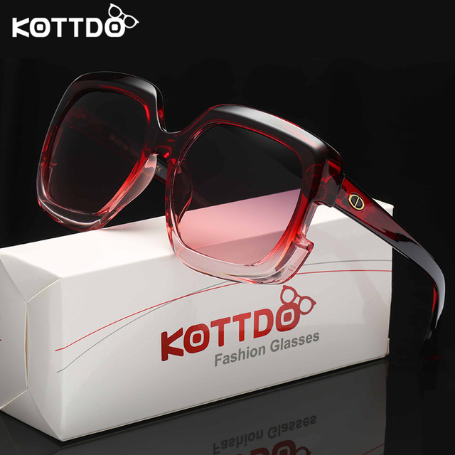 2d515876301 KOTTDO 2018 Fashion Men Polarized Sunglasses Square Glasses For Male Big  Frame Retro Vintage Sun Glasses Classic Lady Eyewear