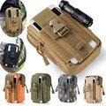 Universal Coldre Tático Ao Ar Livre Militar Saco Molle Cinto Hip bolsa carteira bolsa phone case com zíper para iphone 7/htc