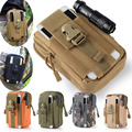 Universal Outdoor Tactical Holster Military Molle Hip Waist Belt Bag Wallet Pouch Purse Phone Case with Zipper for iPhone 7 /HTC