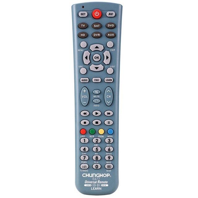 קומבינטוריים שלט רחוק ללמוד לטלביזיה SAT DVD CBL DVB T AUX האוניברסלי 3D חכם טלוויזיה CE Chunghop E677 L677E L677