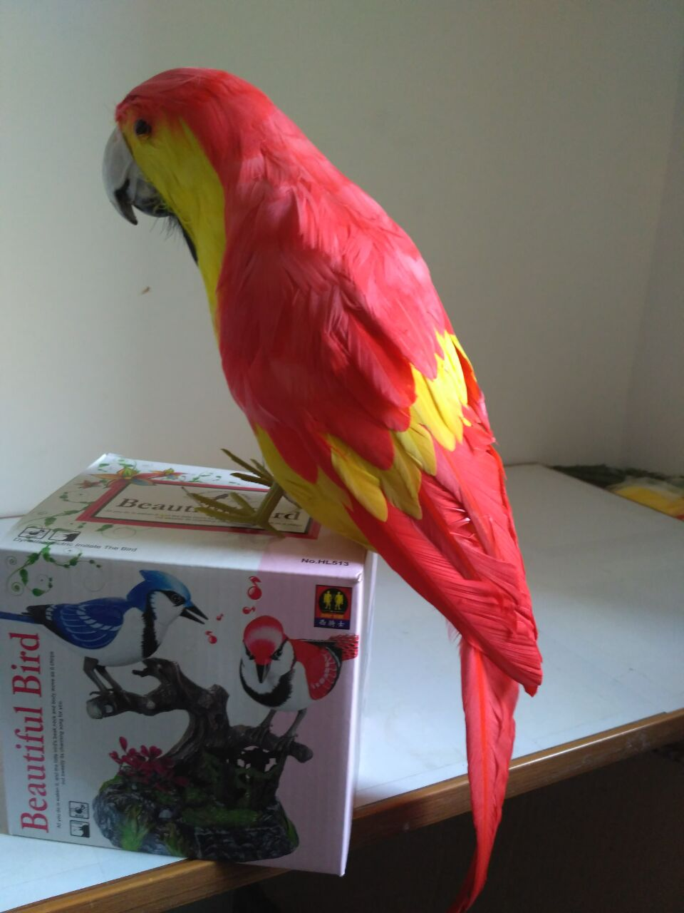 cute simulation red&yellow parrot model foam&feathers parrot toy about 40cm