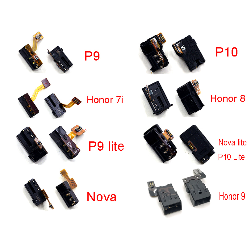 New Earphone Headphone Audio Jack Flex Cable For Huawei P9 P10 Nova Lite Honor 7i 8 9 5X 6X Plus Enjoy 7s 8e P Smart Repair