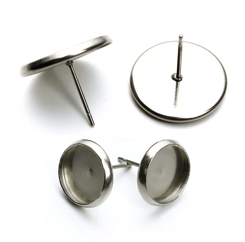 aliexpress buy 50pcs lot stainless steel silver tone earring studs earrings blank