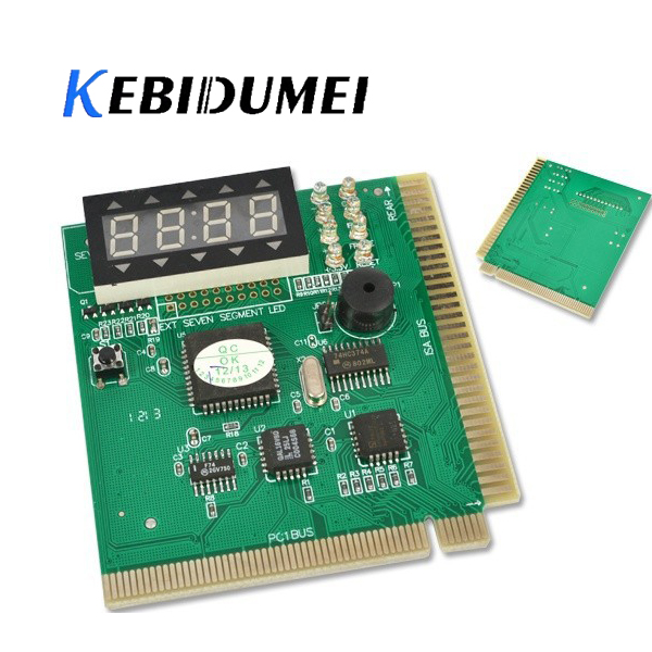 Kebidumei AK PCI & ISA Motherboard Tester Diagnostics Display 4-Digit PC Computer Mother Board Debug Post Card Analyzer