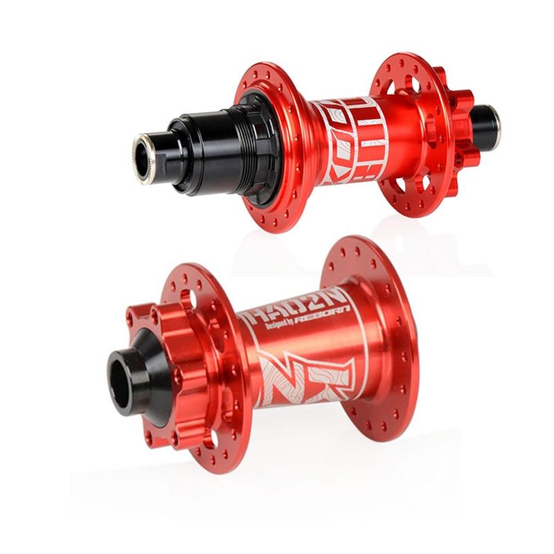 32H Disc Brake Bicycle Front Hub 2+4 Bearing Quick Release/Drum Shaft Red/Blue MTB Mountain Bike Bicycle Hub XD Rear Bearing Hub