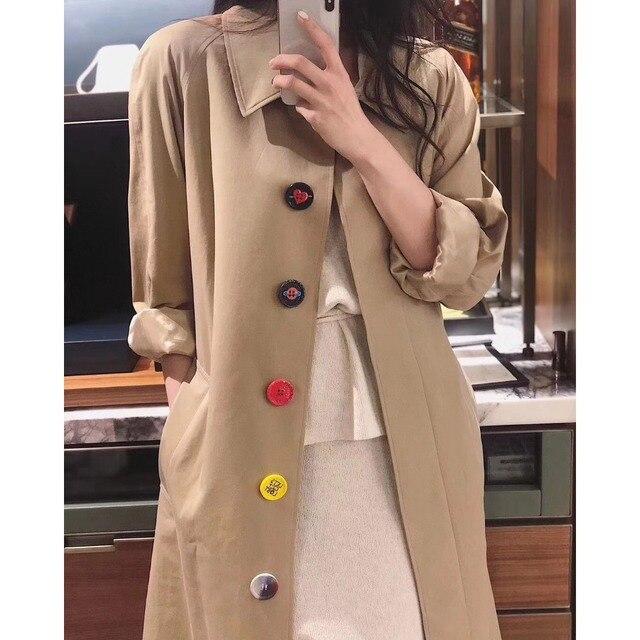 Jacket Women 2019 New Khaki Puffer Jacket Trench Coat
