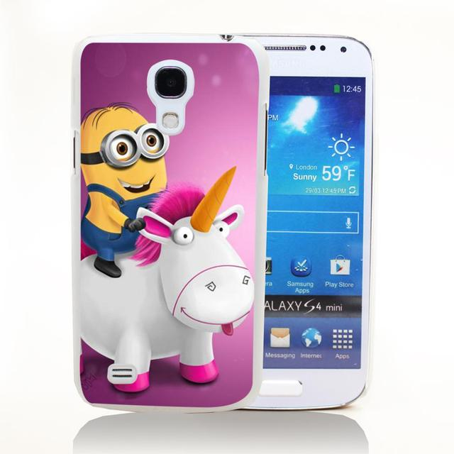 Minion Style Transparent Hard Back Cover for Samsung Galaxy S3 S3 MINI S4 S4 MINI S5 S5 MINI S6 Edge