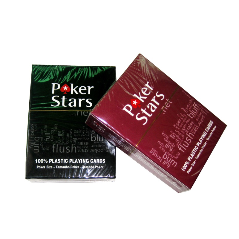 High quality outdoor entertainment plastic playing poker PVD waterproof poker matte wide line version of Texas Holdem
