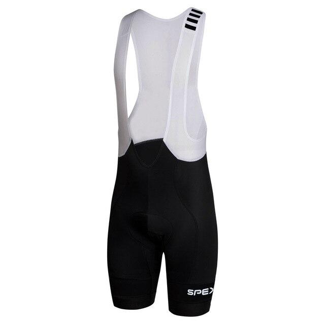 2017 SPEXCEL PRO ÉQUIPE profession Course Cyclisme bib shorts léger bib pantalon 40D Lycra et Haute-densité Pad pour long temps tour