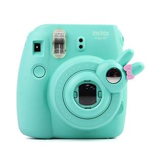 Image 2 - Śliczny styl królika zbliżenie obiektywu autoportret lustro dla Fujifilm Instax Mini /8/8 +/9 aparat natychmiastowy najnowszy
