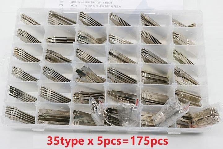 175pcs lot 35 Type Full Original Engraved Line Key for 2 in 1 LiShi scale shearing