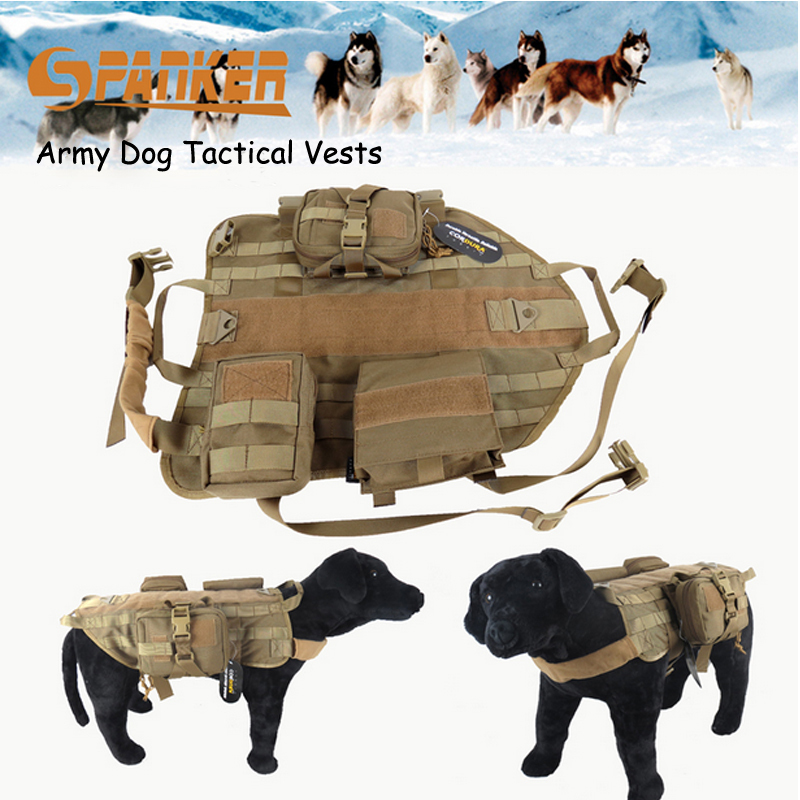 Army Tactical Dog Clothes Vests Sets Outdoor SWAT Military Dog ...