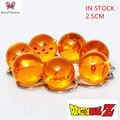 7Pcs  Complete set Dragon Ball Z Crystal Balls Keychain Pendant toy Key Ring Best Collection Gift for Dragon ball Fans ZK7DB