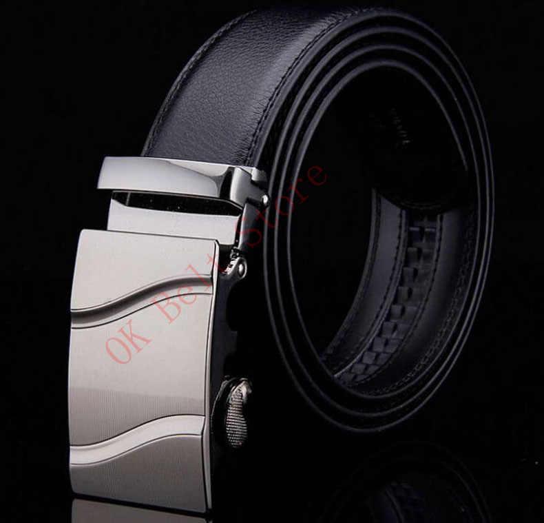Известный бренд пояса Для мужчин 100% хорошее качество натуральной воловьей роскошные кожаные Для мужчин S Ремни для Для мужчин ремень Мужской металлической пряжкой автоматического ab8