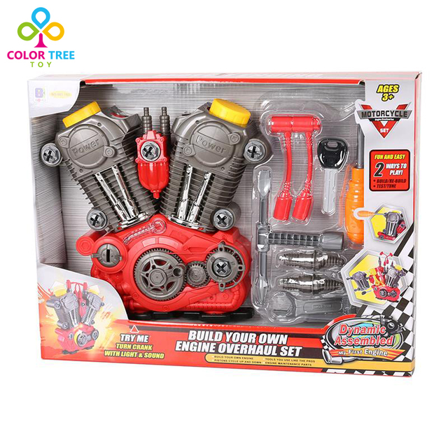 US $18 99 |Electronic DIY Assembly Engine Overhaul Play Set 20 Pieces Take  Apart Kit with Lights and Sound Power Drill Kit Educational Toys-in Tool