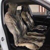 ที่นั่งรถในช่วงฤดูหนาวปกwolfskinหมาป่าผิวที่นั่งปก2017ใหม่tyling