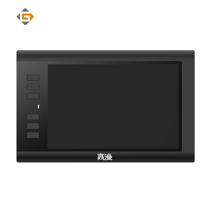 Promóció fekete 8x5 hüvelykes GAOMON 860T digitális táblák Művész grafikus tábla az USB digitális tollal és 6 gyorsbillentyűvel történő rajzoláshoz
