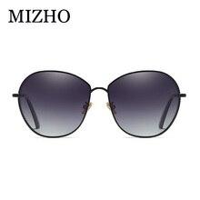 MIZHO BRAND DESIGN Luxury Metal Oval Sunglasses Womens Polarized Fashion Sun Glasses For Women Rhinestone Temple Goggles UV400