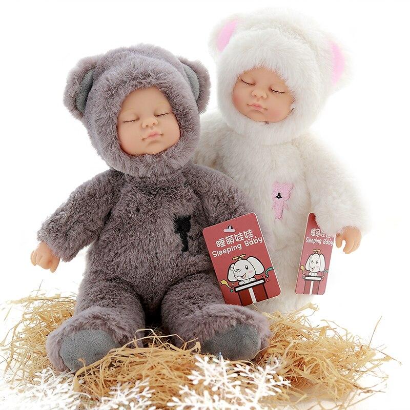 Kawaii baby puppen & gefüllte pvc kinder plüsch spielzeug für mädchen weihnachtsgeschenk hochwertige Bjd bebe puppe reborn baby geboren spielzeug
