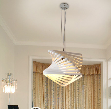New Modern Iron Hollow Pendant Light Free Shipping Black White Contemporary Alternative Lamp Bedroom