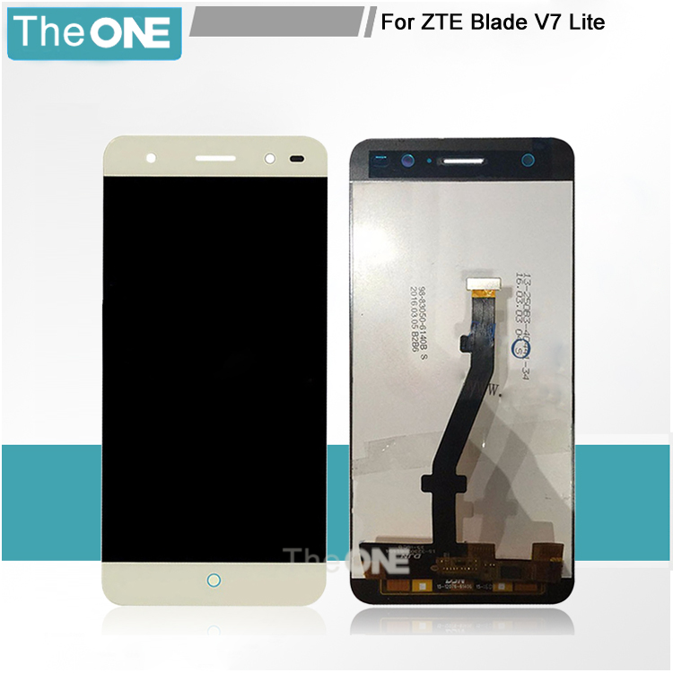 Подробнее о Black/White/Gold For ZTE Blade V7 Lite LTE Touch Screen Digitizer + LCD Display Assembly Smartphone Replacement white black for zte blade a610 td lte lcd display touch screen digitizer assembly replacement free shipping