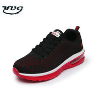 YUG New Men Running Shoes Women Unique Air Soles Design Flying Mesh Breathable Sport Shoes Male