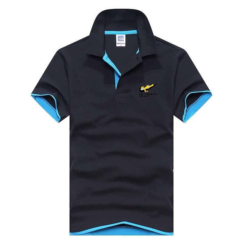 2018 summer men short-sleeved shirt design large men's creative fashion   polo   shirt printing small comic men's large XXXL