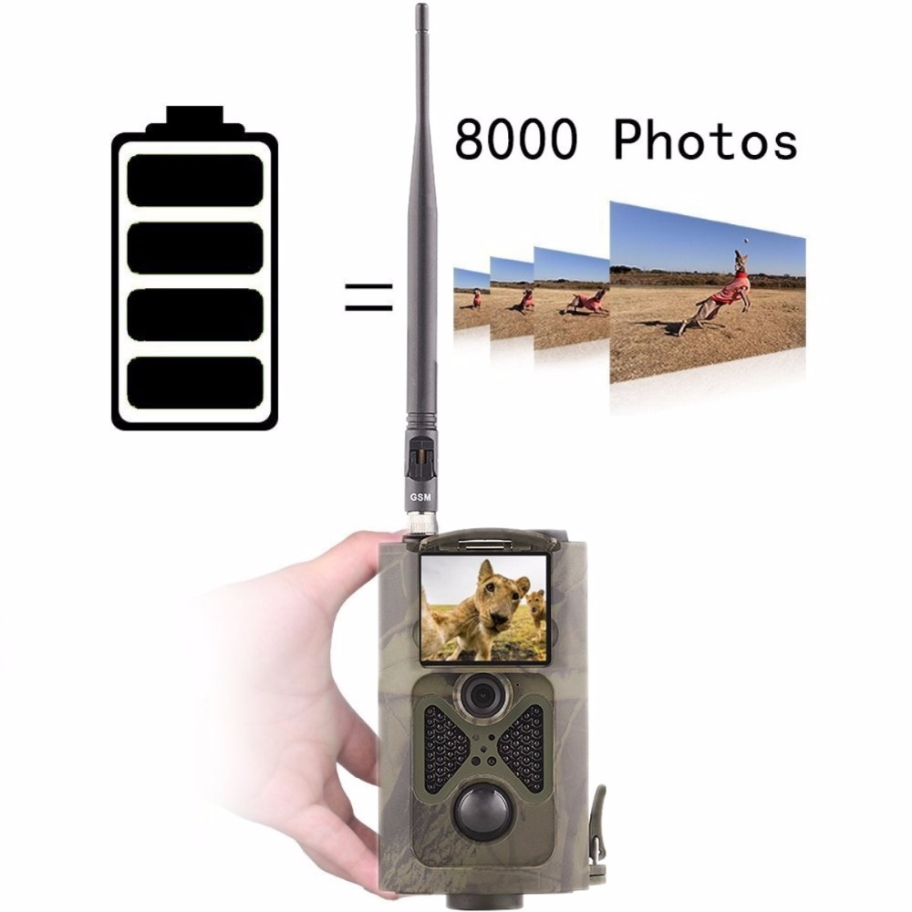 Hunting Camera Infrared with 3G WCDMA  Battery power 48 LEDs 940NM Night Vision HC550G wireless trail camera ce rohs
