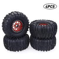 4PCS 120mm 2.2 Truck Tire & Wheel For 1:10 RC Rock Crawler Wheels & Tires 12mm Hex for Axial SCX10 RR10 TRX 4 Model Accessories